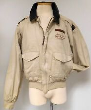 AVIREX SACK TIME A-2 COTTON FLIGHT BOMBER JACKET NOSE ART B-17 USAAF VNTG RARE
