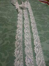 2m,65x3cm   ,coton ,dentelle  crochet fait main ,blanc,jupons ,literie etc..