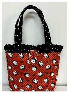 NEW Handmade Tote Purse handbag Betty Boop Cartoon Red  Bag faffygiraffe