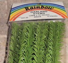 "12"" Rainbow Christmas Artificial Pine Garland Holiday Stem Decorations 12 Piece"