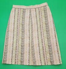 J.Crew Brown Pink Design High Waist Women's Pencil Skirt SIze 4 But Fits Like 0