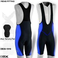 Mens Cycling Tights Bib Shorts Hi-Density Padded MTB Bike Legging Blue S,M,L,XL