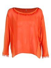 New Womens Light see through Chiffon Casual Loose Shirt  Long Sleeve Top Blouse