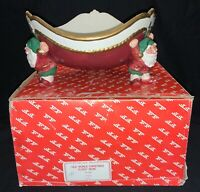 VINTAGE 1989 FITZ AND FLOYD 'OLD WORLD CHRISTMAS ELVES' BOWL