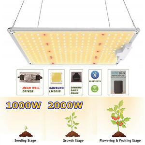1000W 2000W LED Dimmable Grow Light Sunlike Full Spectrum Veg Flower IndoorPlant