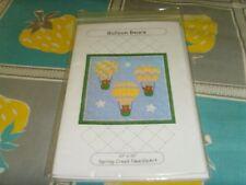 "Balloon Bears 33x33"" Spring Creek NeedleArt hot air balloons small quilt pattern"