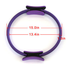 Pilates Ring Yoga Circle Muscle Exercise Fitness Body Trainer Magic Tool US