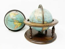 Pair of two 1930s Weber Costello World Globes