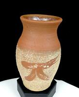 "ANDERSON SIGNED STUDIO ART POTTERY Pi SIGN TEXTURED 6"" VASE 2004"