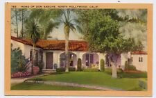 1940 NORTH HOLLYWOOD CA Don Ameche Home postcard