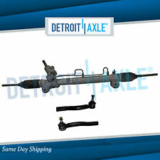 Complete Power Steering Rack and Pinion + 2 New Outer Tie Rod Ends for Toyota