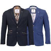 Mens Blazer Cavani Coat Dinner Suit Jacket Button Lined Patches Wedding Formal