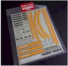 Vintage KYOSHO RC Helicopter Parts H3078 Hughes 300 Concept 30 Decal Sheet NOS
