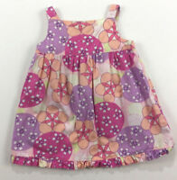 Hanna Andersson GIRLS 6-12 Months 70 Pink Purple Floral Dress