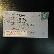 NAPOLÉON N°14 LETTRE COVER CORRECTION ADRESSE INEXACTE CAD ROUGE 1324