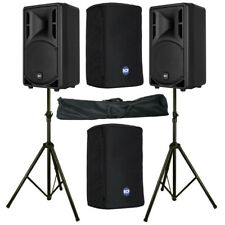 "2 x RCF ART 310-A MK4 10"" 1600W Active PA Speaker or Monitor + Covers + Stands"