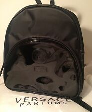 BRAND NEW 100% GENUINE VERSACE BLACK BACKPACK RUCKSACK LADIES WEEKEND TRAVEL BAG