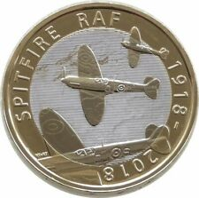 2018 RAF Spit fire £2 coin