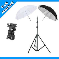 "Flash kit 33"" Black/Silver + translucent Umbrella +195cm light stand+bracket B"