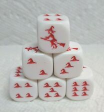 New from Koplow! Witchy Dice! Witch on Broom as #1>Witch's Hats as Pips! *6*Red!