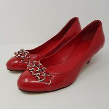 Carvela Ladies Kitten Heel Red Patent Leather Court Shoes - UK Size 5 - EU 38