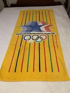 "❤️Vintage VTG 1984 Los Angeles Olympics Beach Towel 58X28"" EUC"