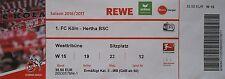 TICKET BL 2016/17 1. FC Köln - Hertha BSC