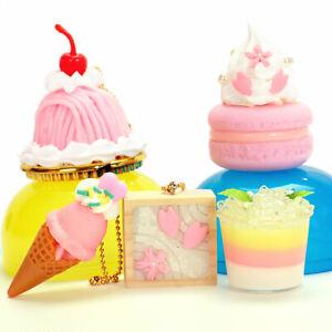 Cute Japanese Phone Food Charm Pink Macaron Ice Cream Cone 1pc Random