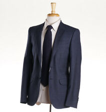 NWT $810 PAUL SMITH Blue Houndstooth Check Wool Blazer Slim 36 R Sport Coat