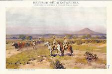 1911 Deutsch-Südwestafrika Alter Farbdruck Druck Antique Print Lithographie