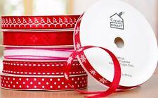 6 Rollos De Cinta De Navidad Rojo Mezclado Ajuste Cardmaking Scrapbooking Tarjetas de decoración del hogar