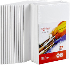 Artlicious Canvas Panels 12 Pack - 5 inch x 7 inch Super Value Pack- Artist Canv