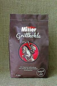 1,5 kg Grillkohle Holzkohle BBQ Miller - ökologisch & sozial - Premiumqualität