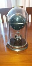 RARE SILVER KUNDO ANNIVERSARY CLOCK / BLACK FACED AND QUARTZ MOVEMENT