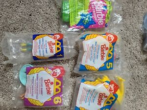 BARBIE - Lot of 5 NEW SEALED - 1994 McDonalds Happy Meal Toys - Mattel