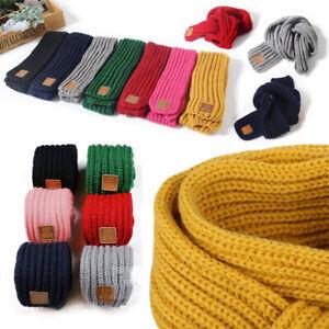 Baby Kids Boys Girls Kint Scarf Autumn Winter Warm Crochet Scarves Neck Warmer