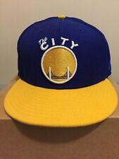 Golden State Warriors New Era Cap The City Blue Yellow 7.5
