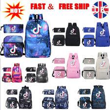 Boys Girls Tik Tok Fortnite Galaxy School Bag Backpack Rucksack Shoulder Bag