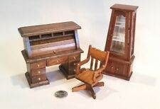 Dollhouse Office Furniture - Roll-top desk, lot of 3 (Lot 5)