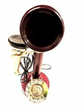 ANTIQUE / VINTAGE LOOK CHERRY COLOR BRASS CANDLESTICK TELEPHONE
