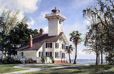 John Stobart Print - Haig Point Lighthouse, Daufuskie Island, S.C.