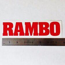RAMBO Vinyl DECAL STICKER BLK/WHT/RED Logo Window Stalone FIRST BLOOD Movie