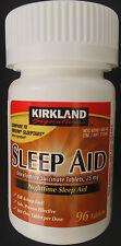 96 Kirkland SLEEP AID Doxylamine Succinate 25 mg/Tablet CompareUNISOM SLEEPTABS