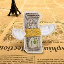 Cute Money DIY Fly Embroidered Applique Badge Collar Iron On Sew On Patch Craft