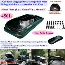 Universal 450L 85KG Dual Sides Open Car Roof Rack Luggage Box Pod Carrier Black