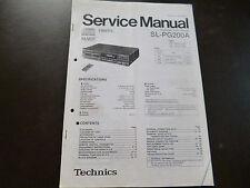 Service Manual Technics SL-PG200A