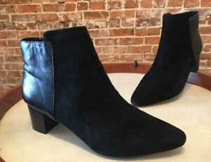 Rockport Black Leather & Suede Chilmark Total Motion Ankle Boot 10 41.5 Sale