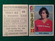 CALCIATORI 1981-82 81-1982 n 84 CATANZARO BRAGLIA , Figurina Sticker Panini NEW