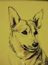 Lucy Dawson 1937 SWEET WELSH CORGI Vintage Dog Art Print Matted