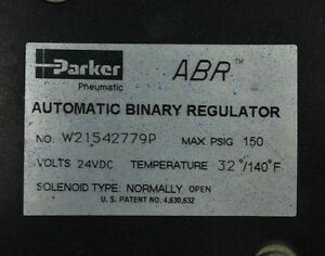 Parker W21542779P Automatic Binary Regulator - USED